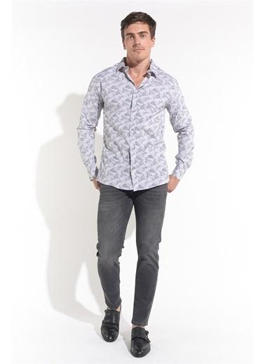Z Giyim Uzun Kollu Slimfit Gömlek Gri